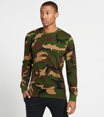 Polo  Long Sleeve Camo Crew Neck Thermal Shirt  Multi - PW17HF-RZE | Jimmy Jazz