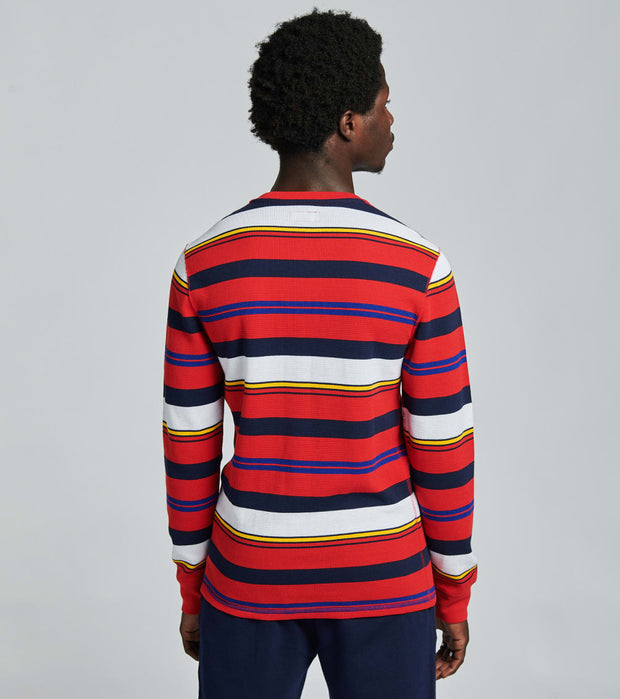 Polo  Long Sleeve Crew Stripe Thermal  Red - PW18HF-APHC | Jimmy Jazz