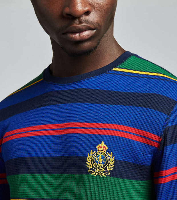 Polo  Long Sleeve Crew Stripe Thermal Shirt  Navy - PW18HF-AVPG | Jimmy Jazz
