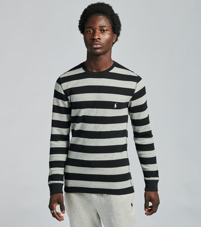 Polo  Long Sleeve Rugby Stripe Crew Thermal  Black - PW20HF-AVXG | Jimmy Jazz