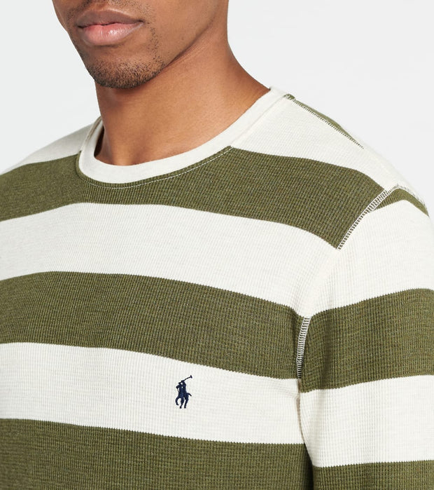 Polo  Rugby Camo Stripe Crew Thermal  Green - PW20HF-UHN | Jimmy Jazz
