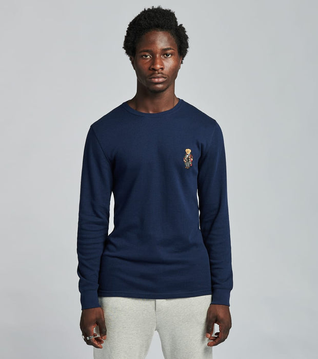 Polo  Long Sleeve Toggle Bear Crew Thermal  Navy - PW26HF-A6UC | Jimmy Jazz