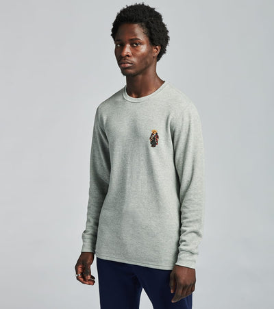 Polo  Long Sleeve Toggle Bear Crew Thermal  Grey - PW26HF-A30C | Jimmy Jazz