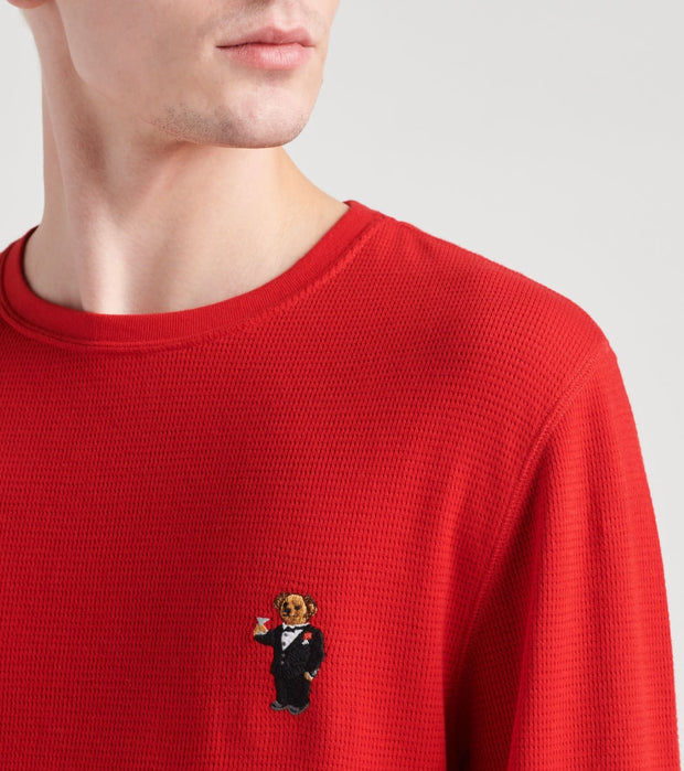 Polo  Martini Bear Crew Neck Thermal  Red - PW26HF-ESO | Jimmy Jazz