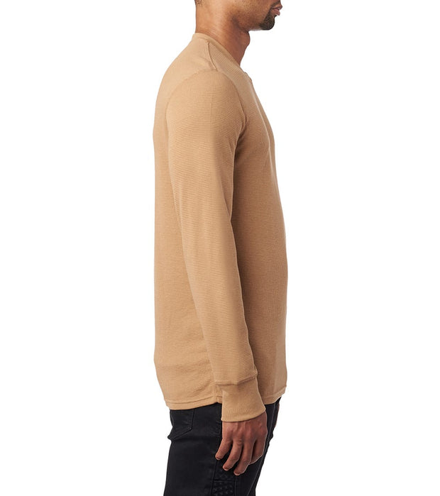 Polo  Long Sleeve Crew Thermal  Beige - PWLCHF-1PD | Jimmy Jazz