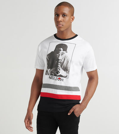 Freeze  Poetic Justice Striped Tupac Tee  White - Q5SN002B-WHT | Jimmy Jazz
