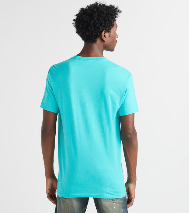 Outrank  Rich Rich Center Patch Tee  Blue - QS149-NTB | Jimmy Jazz