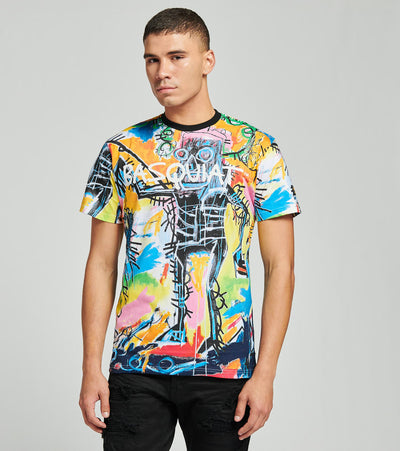 Reason  Basquiat All Over Print Tee  Multi - RCF20141-MLT | Jimmy Jazz