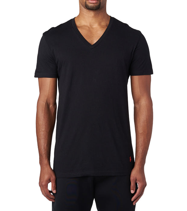 Polo  3 Classic Fit V-Neck Shirt  Black - RCVNP3-PBD | Jimmy Jazz