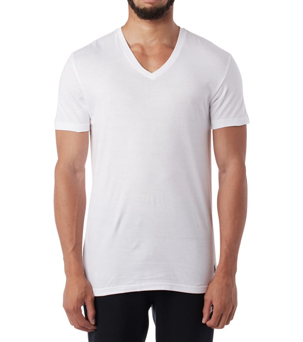 Polo  3 Classic Fit V-Neck  White - RCVNP3-WHD | Jimmy Jazz