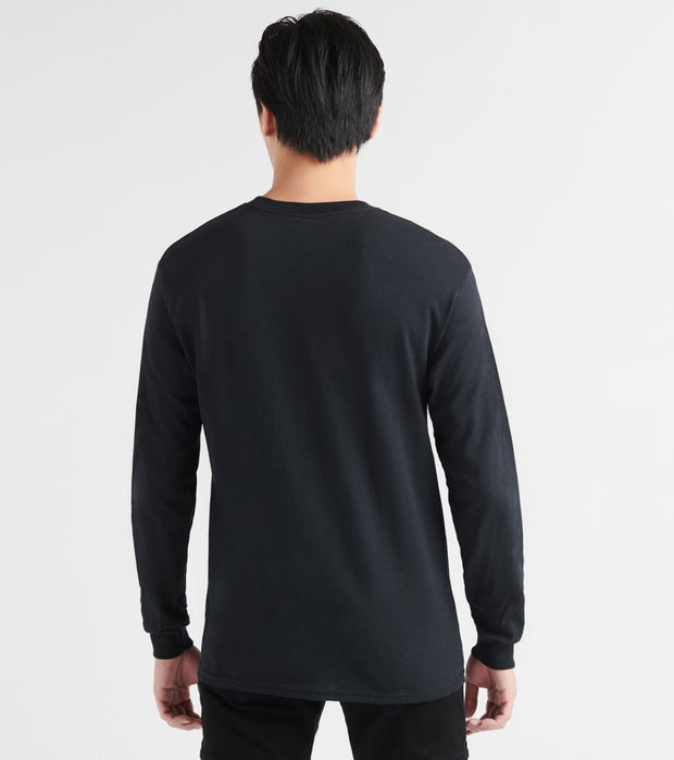 Spalding  The Map Long Sleeve Cotton Jersey  Black - RH3S357-BLK | Jimmy Jazz