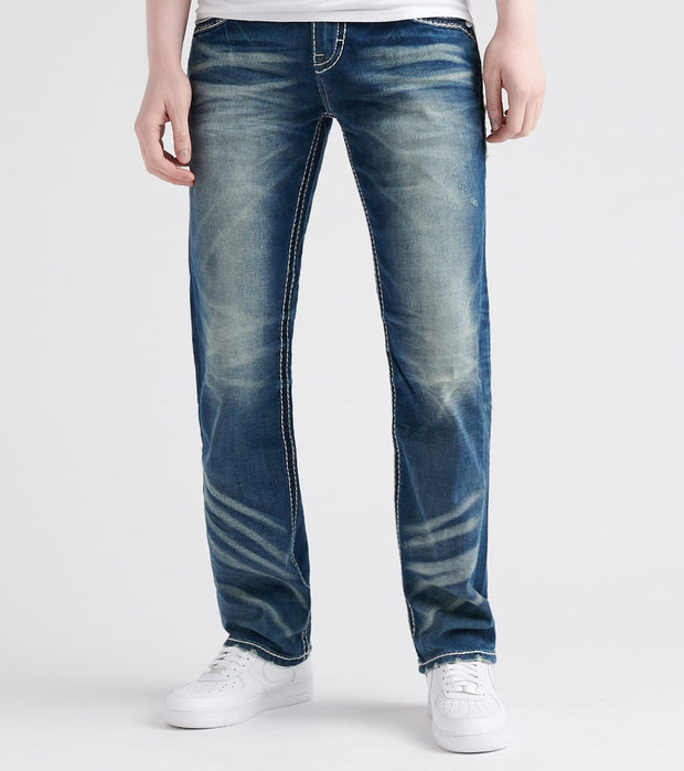 Rock Revival  Straight Fit Jean  Blue - RP2194-J206 | Jimmy Jazz