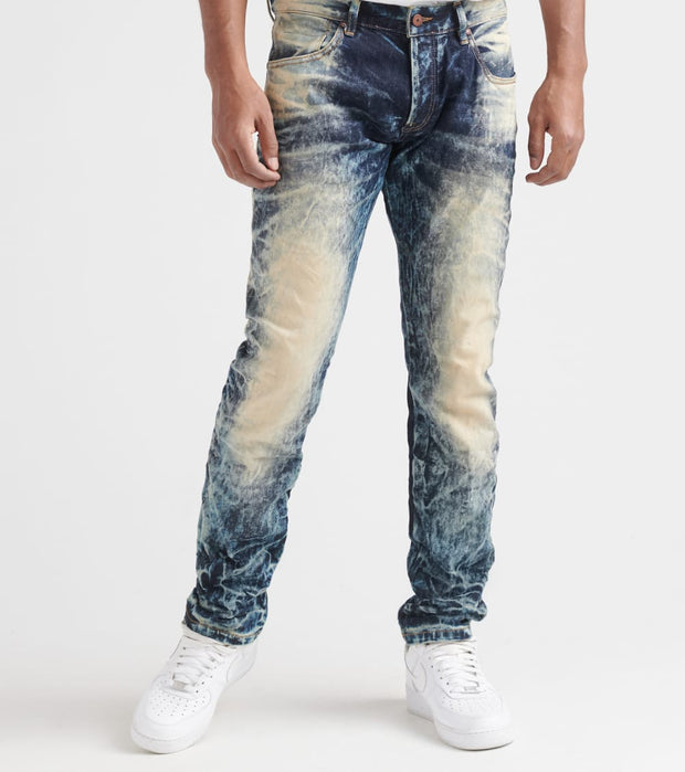 Rock Star  Crinkles Bleach Jeans  Blue - RSM212US-IND | Jimmy Jazz