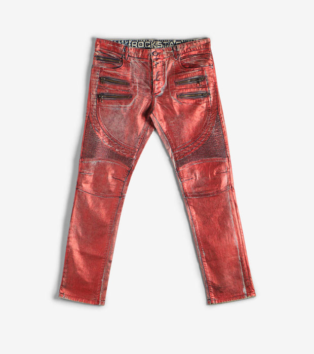 Rock Star  Color Dyed Jeans  Red - RSM235ORT-RED | Jimmy Jazz