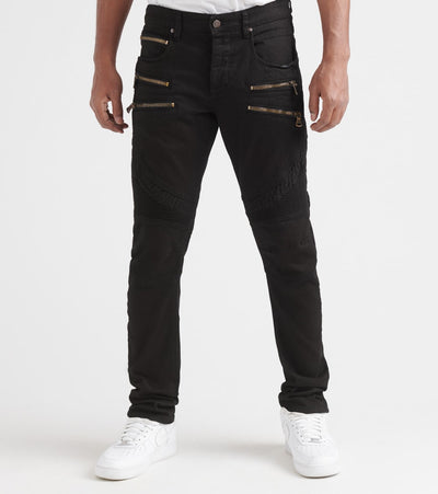 Rock Star  Jeans With Zipper Details  Black - RSM235TBV-JBK | Jimmy Jazz
