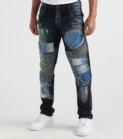Rock Star  Multi Patch Jeans  Blue - RSM245ORT-DON | Jimmy Jazz
