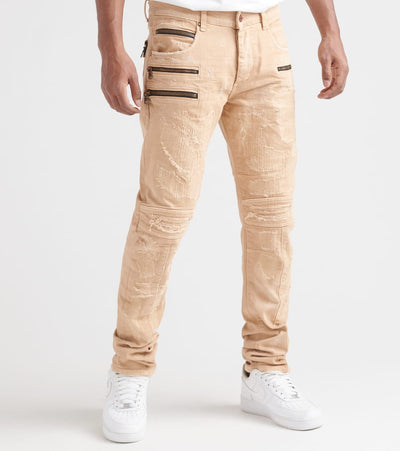 Rock Star  Zipper Jeans  Beige - RSM254BLL-SND | Jimmy Jazz