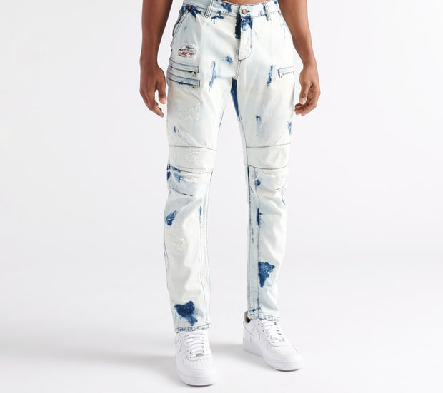 Rock Star  Bleach out Jeans  Blue - RSM265ORT-BLC | Jimmy Jazz
