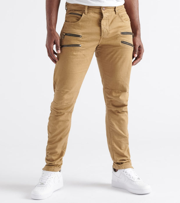 Rock Star  Twill Ankle N Zip Pockets Pants  Beige - RSM266BLL-BGE | Jimmy Jazz
