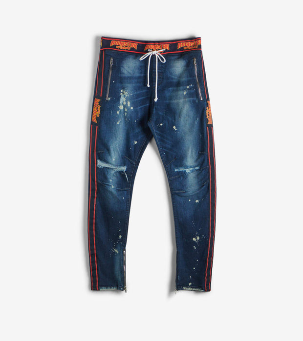 Rock Star  Roger Jeans With Drawstring  Blue - RSM278ORT-BLU | Jimmy Jazz
