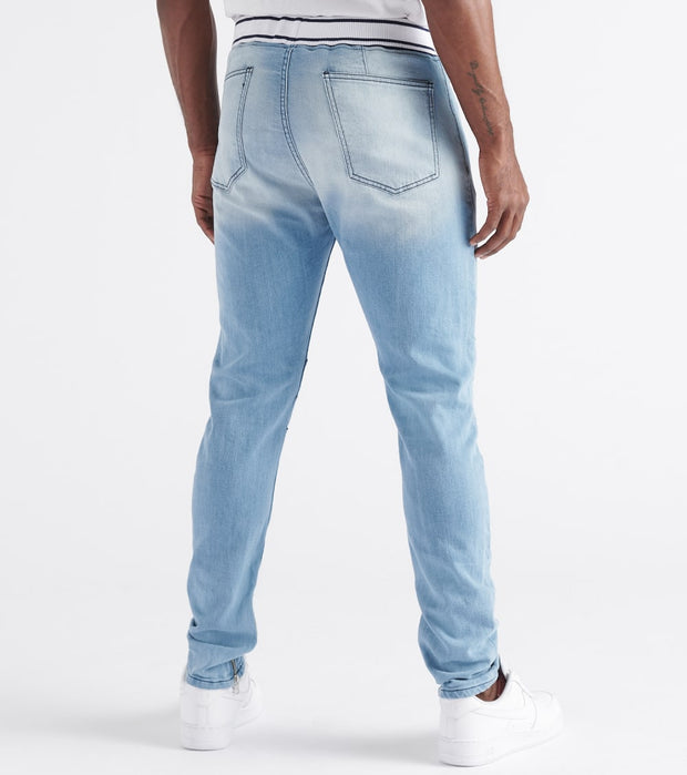 Rock Star  Ankle Zip Jeans w Draw Strings  Blue - RSM278ORT-LGT | Jimmy Jazz
