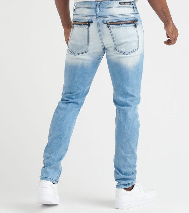 Rock Star  Jeans With Ankle Zippers  Blue - RSM286TWNTOV-LBL | Jimmy Jazz