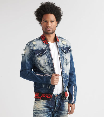 Rock Star  Goga Denim Jacket  Blue - RSM363ORT-BLK | Jimmy Jazz