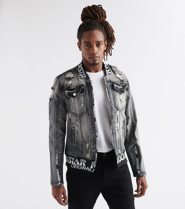 Rock Star  Rockstar Denim Jacket  Black - RSM363TBV-BLK | Jimmy Jazz