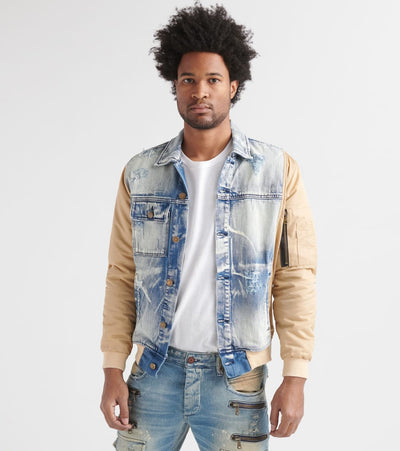 Rock Star  Denim n' Nylon Rockstar Jacket  Blue - RSM366TWN-BGE | Jimmy Jazz
