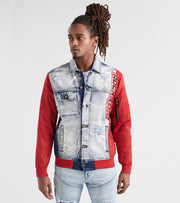 Rock Star  Multi Media Denim Jacket  Blue - RSM366TWN-BLR | Jimmy Jazz