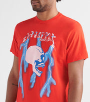 Rock Star  Rockstar Skull N Lightning Tee  Red - RSM5050SKL-RED | Jimmy Jazz