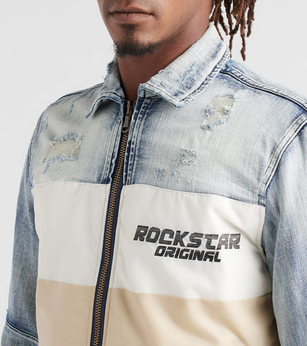 Rock Star  Rockstar Denim Jacket  Blue - RSM6019ORT-WLN | Jimmy Jazz