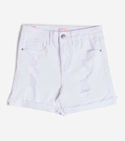 Essentials  Elite Destructed Shorts  White - S1600104-WHT | Jimmy Jazz