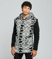 One In A Million  Black Mumba Hooded Long Sleeve Cardigan  Black - S20101-BKW | Jimmy Jazz