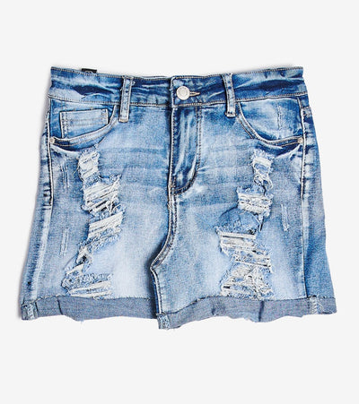 Essentials  Destructed Raw Edge Cuff Shorts  Blue - S20618-POT | Jimmy Jazz