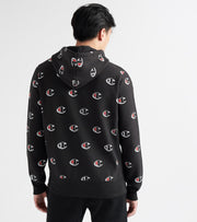 Champion  Reverse Weave All-Over Print Hoodie  Black - S297411573-LDL | Jimmy Jazz