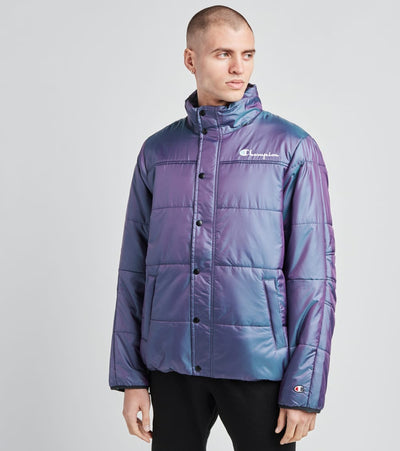 Champion  Puffer Jacket With Packable Hood  Purple - S7479549724-A8EA | Jimmy Jazz
