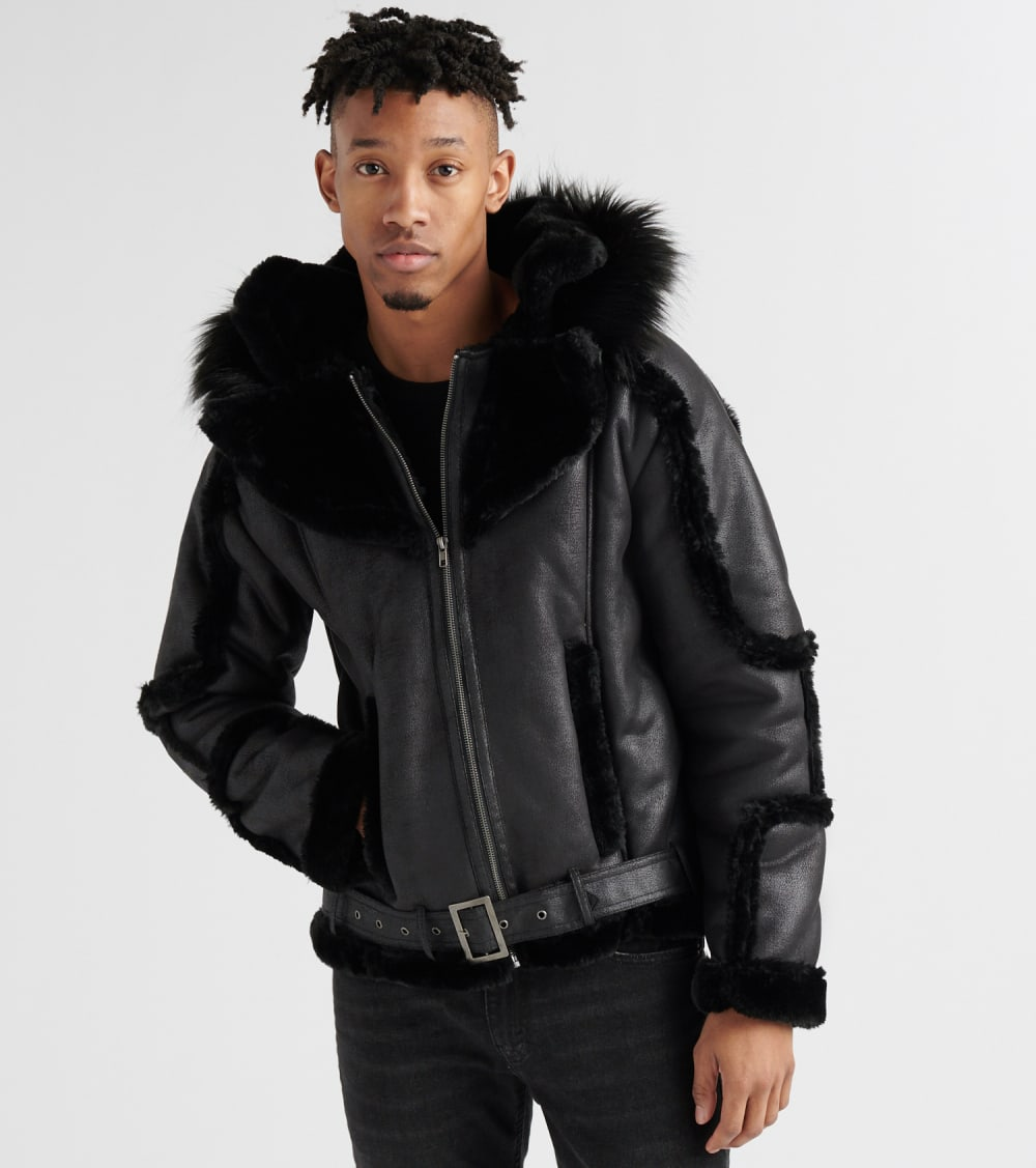 Shabazz Brothers  Biker Jacket  Black - SB108FNUBUC-BLK | Jimmy Jazz