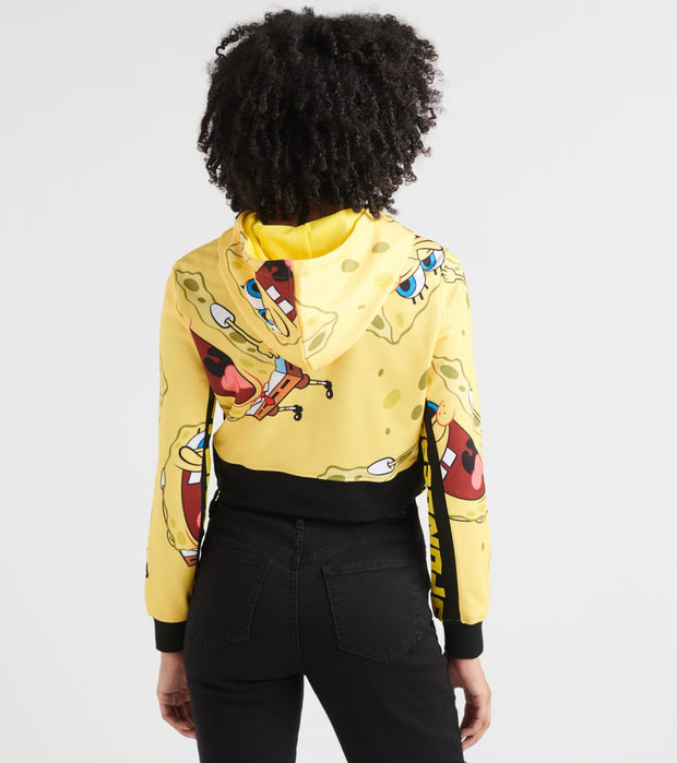 Essentials  Laughaholic Crop Hoody  Yellow - SBC0074-YEL | Jimmy Jazz