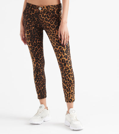 Essentials  Leopard Twill Jogger  Brown - SD29532LPP-LEP | Jimmy Jazz