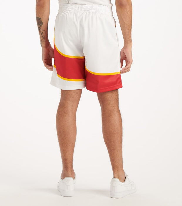 Mitchell And Ness  Big Face Hawks Shorts  White - SHORBW19069-ATL | Jimmy Jazz