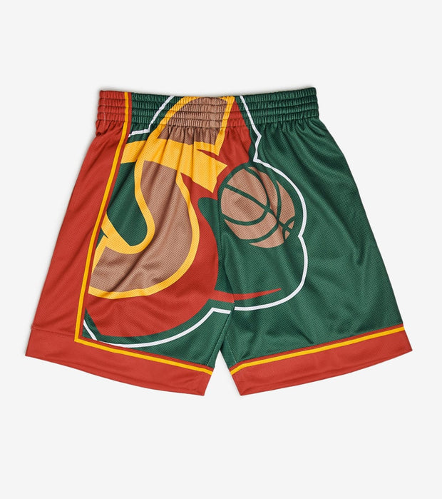 Mitchell And Ness  Big Face Supersonics Shorts  Green - SHORBW19069-SEA | Jimmy Jazz