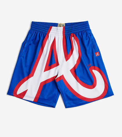 Mitchell And Ness  Big Face Braves Short  Blue - SHORBW19077ABR-RYL | Jimmy Jazz