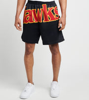 Mitchell And Ness  Atlanta Hawks Blown Out Shorts  Black - SHORBW19147AHA-BLCK | Jimmy Jazz