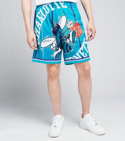 Mitchell And Ness  Charlotte Hornets Blown Out Shorts  Blue - SHORBW19147CHO-HRBL | Jimmy Jazz