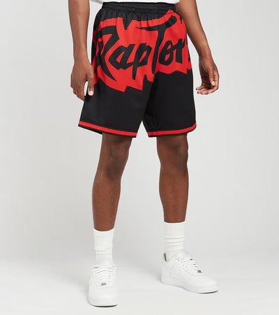 Mitchell And Ness  Toronto Raptors Blown Out Shorts  Black - SHORBW19147TRA-BLCK | Jimmy Jazz