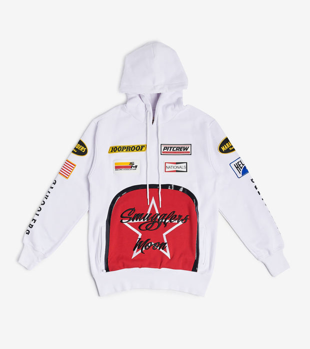 Smugglers Moon  Smuggler Star Pullover Hoodie  White - SMCS001-MBN | Jimmy Jazz
