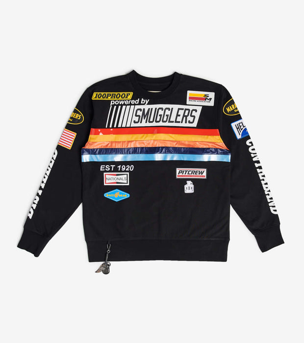 Smugglers Moon  Smuggler Motor Sport Long Sleeve Tee  Black - SMCS002-BBK | Jimmy Jazz