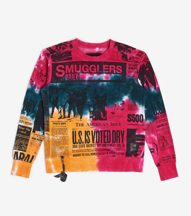 Smugglers Moon  Daily Tie Dye Crew  Multi - SMCS4018-TDY | Jimmy Jazz