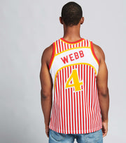 Mitchell And Ness  Striped Webb Swingman Jersey  Red - SMJYBW19047AHA-RDW | Jimmy Jazz